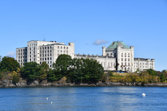 Abandoned US Naval Prison at the border of Kittery, Maine, and Portsmouth, New Hampshire