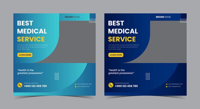 Best medical service social media post and flyer