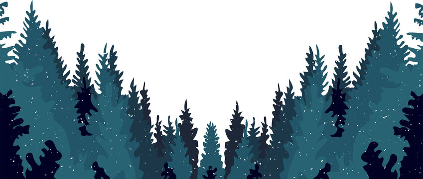 coniferous chemical forest. vector. eps