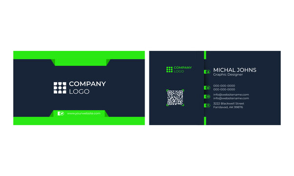 Clean professional business card template Free Vector