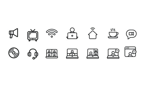 Work from Home icons vector design