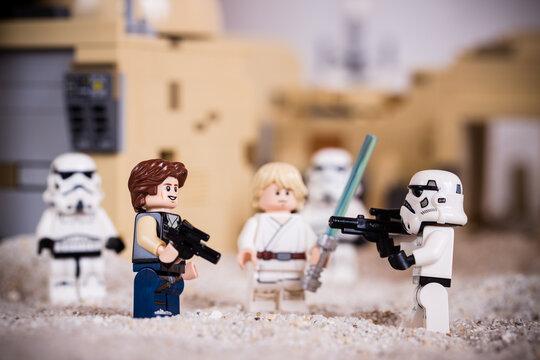 Lippstadt - Deutschland 2. Januar 2021 Lego Minifigur Star Wars