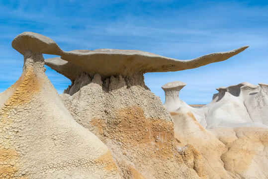 The Wings rock formation in Bisti/De-Na-Zin Wilderness Area, New Mexico, USA