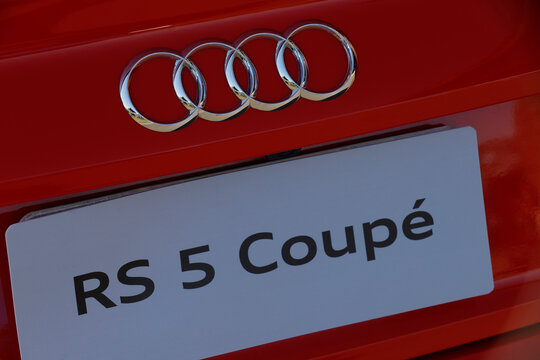 Red Audi RS 5 Coupe