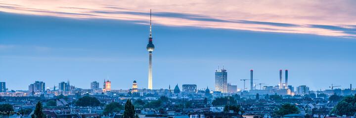 Berlin skyline panorama with tv tower