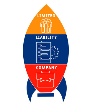 LLC - Limited liability company acronym. business concept background.  vector illustration concept with keywords and icons. lettering illustration with icons for web banner, flyer, landing page