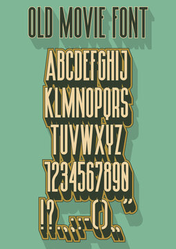1930s Style Movie Font, Retro Cinematographic Typeface