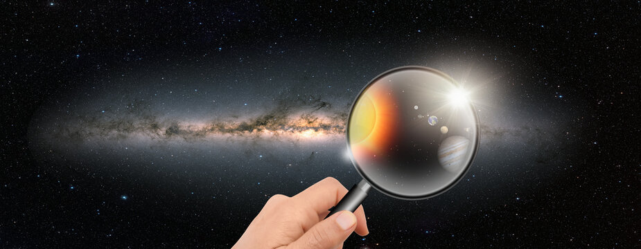 """In the Milky Way galaxy with our Solar system """"Elements of this image furnished by NASA """""""