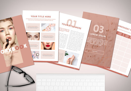 Minimal Peach Color Workbook Layout