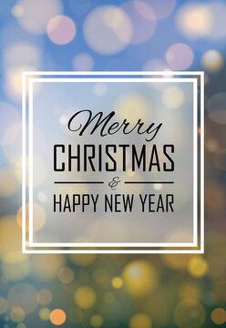 2021 Happy New Year christmas golden bokeh lights.
