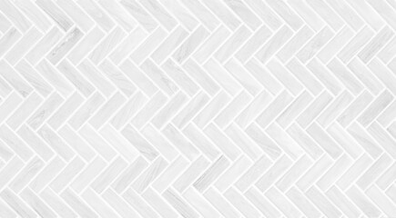 Obraz Gray and white mosaic marble wall tile texture in geometric square shape pattern for background and wallpaper, monochrome - fototapety do salonu