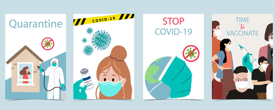 People with surgical face mask, vaccine background to prevent the spread of bacteria,coronavirus