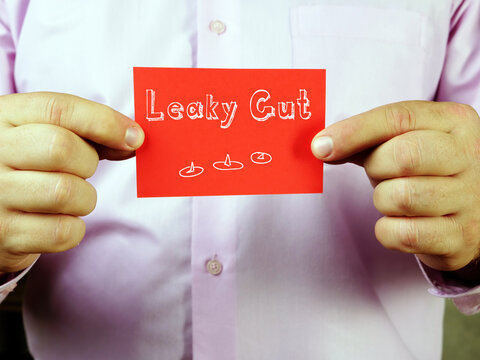 Juridical concept about  Leaky Gut    with inscription on the sheet.