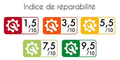 Obraz indice de réparabilité - fototapety do salonu