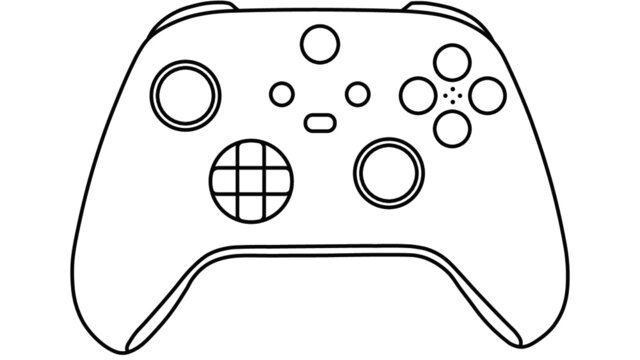 unbranded PC Human input interface, compatible with microsoft xbox series x as a controller