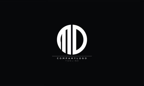 MD   Abstract initial monogram letter alphabet logo design