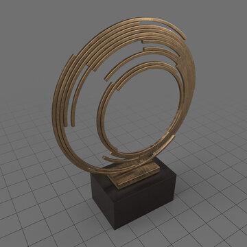Circles sculpture 3