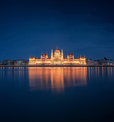 The famous Hungarian Parliament at night