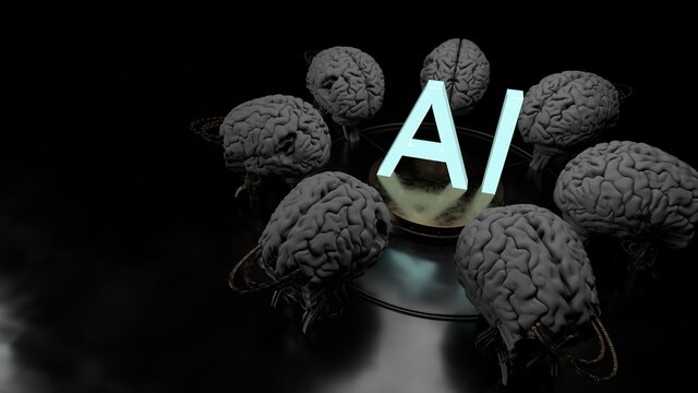 Artificial Intelligence Technology And Smart Devices. Personal Computing.