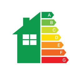 Obraz energy efficiency label on white background. energy saving label. energy label a, b, c, d, e, f, g - fototapety do salonu