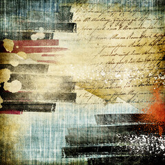 vintage background paper texture with handwritings with place for photo or text