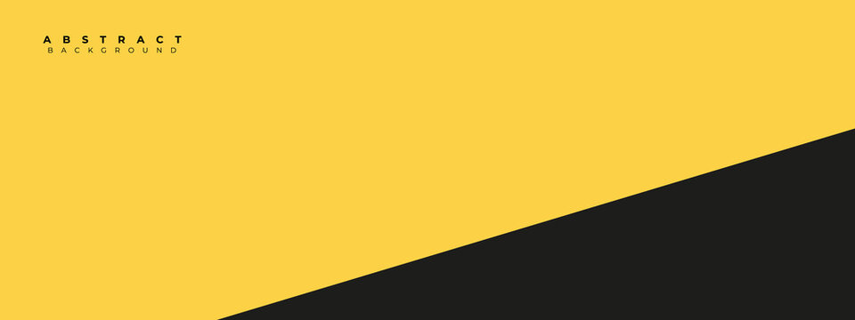 abstract yellow and black background design . modern fresh yellow background design