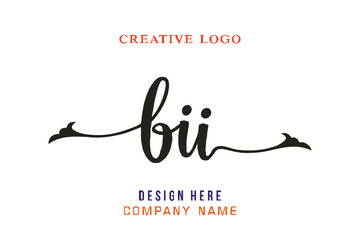 BII lettering logo is simple, easy to understand and authoritative