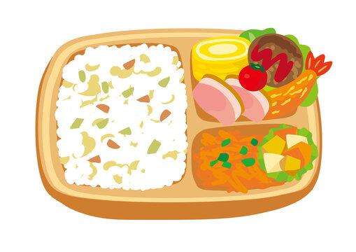 お弁当(ランチボックス)のイラスト