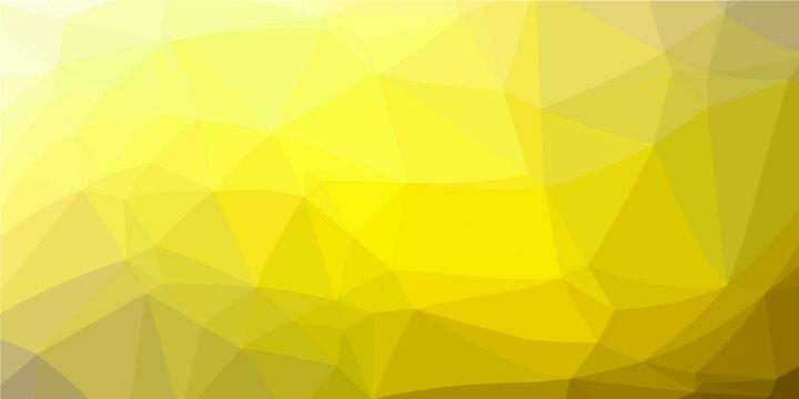 Yellow polygon pattern. Low poly design