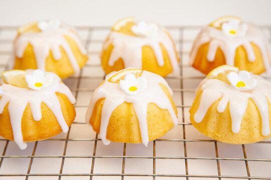 Homemade Lemon Bundt Cake with Sugar Glaze