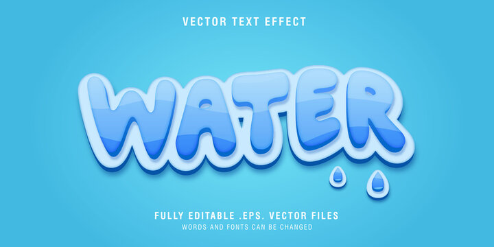 Water text style effect editable