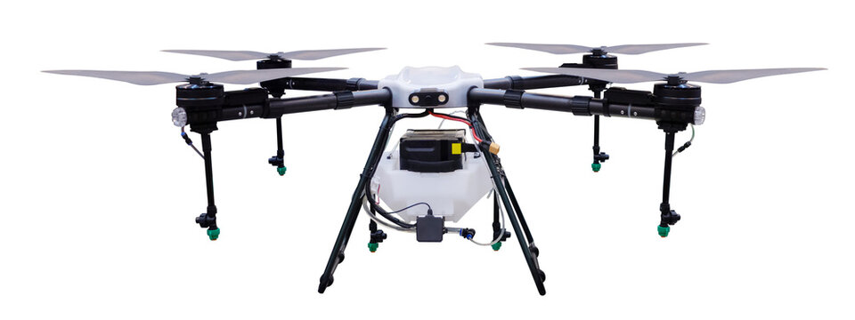Agriculture drone isolated on white background with clipping path
