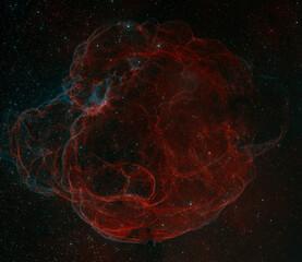 Simeis 147 Supernova Remnant Nebula