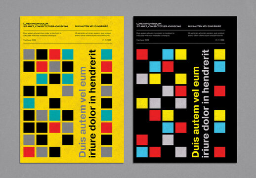 Swiss Style Colorful Geometric Cover Layout