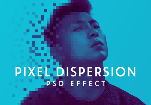Pixel Dispersion Effect Mockup