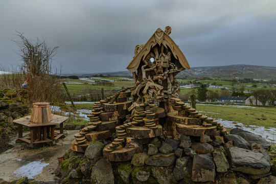 Littleworld Skerry, Fairy centre, woodworking and Fairy Trails, Newtowncromelin, County Antrim, Northern Ireland
