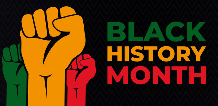 Black History Month. African American History. Celebrated annual. In February in United States and Canada. Poster, card, banner, background. Vector illustration