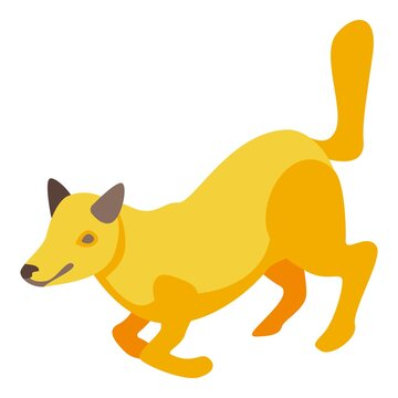 Running fox icon. Isometric of running fox vector icon for web design isolated on white background