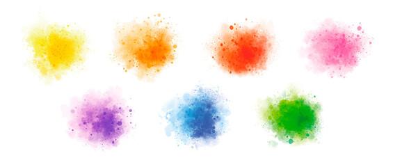 Estores personalizados con motivos artísticos con tu foto Colorful watercolor on white background vector illustration