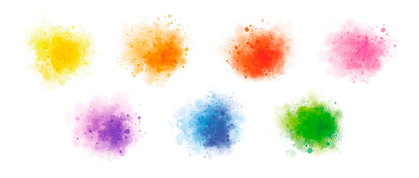 Colorful watercolor on white background vector illustration