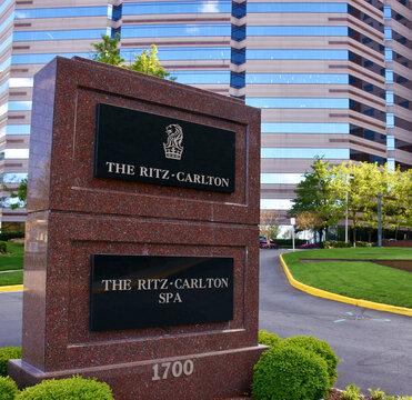 The Ritz Carlton Sign,  Tysons Corner,  Virginia, USA