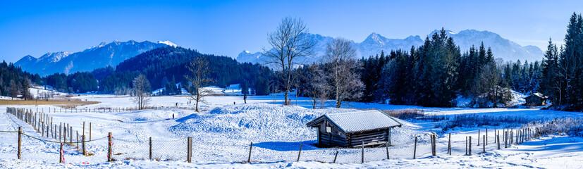 Wall Mural - Karwendel and Wetterstein Mountains at Wallgau - Bavaria