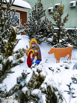 Christmas nativity scene holiday the birth of the savior in the stable
