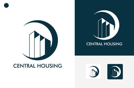 Central Housing Logo Template Design