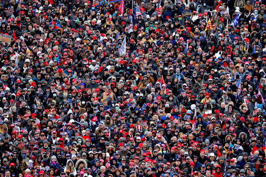 Supporters of U.S. President Donald Trump attend a rally in Washington