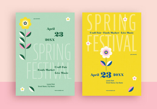 Spring Festival Flyer Layout
