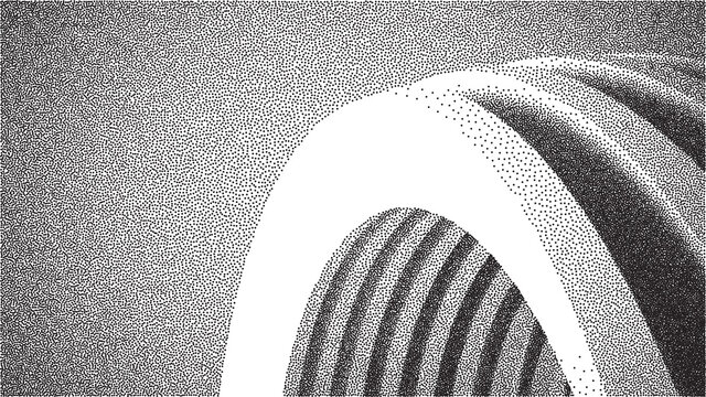 Vector architecture dotwork gradient background. Abstract noise stipple pattern. 3d vector illustration. EPS 10.