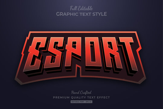 Esport Red Flame Editable Text Effect Font Style