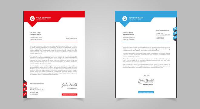 Abstract Letterhead Design Modern Business Letterhead Design Template