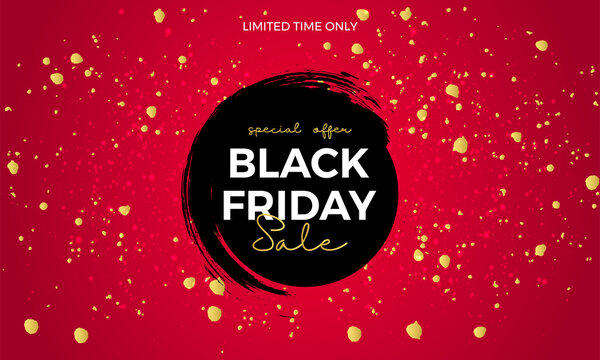 Black friday red and black abstract banner design. Eps 10
